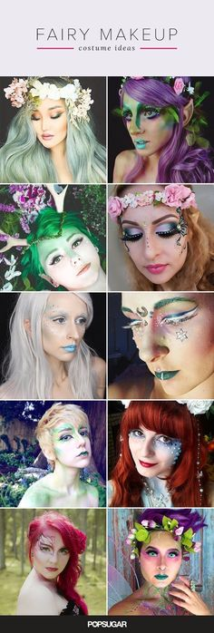 Pin for Later: 25 Ethereal Makeup Transformations to DIY Your Halloween 'Fairy' Tale Pin It! #fairymakeup #makeuptransformation #halloweenmakeup