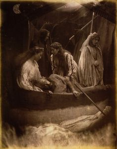 The Passing of Arthur, 1874  by Julia Margaret Cameron