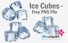 Ice Cubes – Free PNG File
