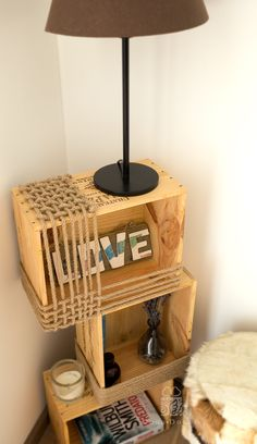 Wine boxes can be a treasure! I turned my wine boxes into a bedside table!