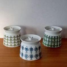 Arabia Finland vintage HERKKU jars, design Procope and Uosikkinen.