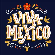 Typography Poster, Graphic Design Typography, Lettering Design, Logo Mexicano, Hispanic Heritage Month, Hotel Logo, Funny Iphone Wallpaper, Image Fun, Mexican Designs