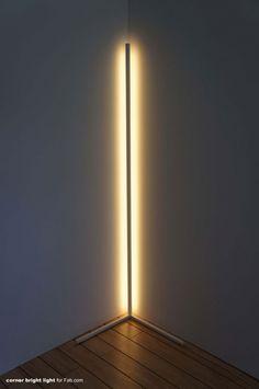 Corner light by Scott Klinker Corner light by Scott Klinker Bedroom Lighting, Interior Lighting, Chandelier Lighting, Led Light Design, Modern Lighting Design, Blitz Design, Mawa Design, Luminaire Design, Modern Floor Lamps