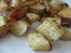 Roasted Garlic Potatoes with Red Peppers and Onion...