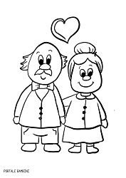 Grandparent's Day Coloring Pages (Printable for Free) Farm Animal Coloring Pages, Alphabet Coloring Pages, Coloring Pages For Girls, Coloring Sheets, Preschool Painting, Doodle People, Valentine Coloring Pages, Bible Doodling, Grands Parents