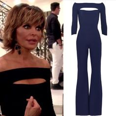 Lisa Rinna's Black Off the Shoulder Cut Out Jumpsuit Season 7 Episode 2 Real Housewives of Beverly Hills Fashion http://www.bigblondehair.com/real-housewives/rhobh/lisa-rinna-fashion/lisa-rinnas-black-off-the-shoulder-jumpsuit/