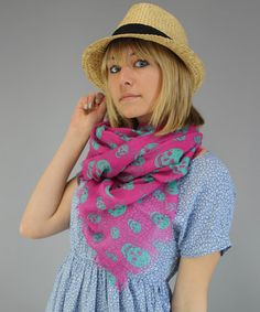 Take a look at this Printed Village Pink Skull Scarf by Printed Village & Vine Street Market USA on #zulily today!
