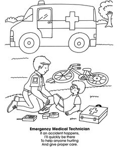 Community service coloring pages ~ Neighborhood Helpers Coloring Book Dover Publications ...