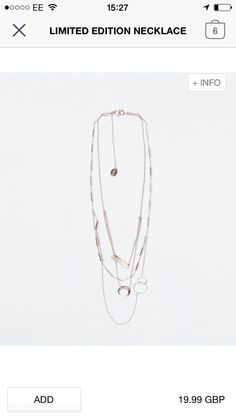 Zara necklace - £19.99