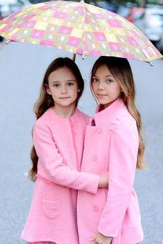 Fashion Kids Pink Trench Coats