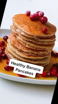 These Easy Banana Pancakes are such a great breakfast or snack idea! The recipe is gluten-free, dairy-free, refined sugar-free and paleo.#Pancake #Recipe #Pancakes #Banana #Easy Pancake Recipe For One 8+ Easy Banana Pancakes   Pancake Recipe For One   2020 Dairy Free, Gluten Free, Banana Pancakes, Meals For One, Sugar Free, Paleo, Snacks, Healthy, Breakfast