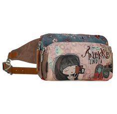 Bauchtasche Anekke India Stickerei Metallic-Applikation Paisley, Hobo Bag, Messenger Bag, Festivals, Beige, Fabric Backdrop, Fanny Pack, Artificial Leather, Embroidery