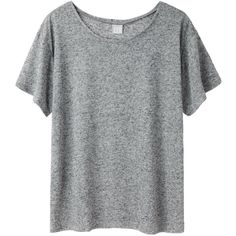 BASE range Loose Tee (€78) ❤ liked on Polyvore featuring tops, t-shirts, shirts, tees, gauze shirts, relax t shirt, short sleeve shirts, lightweight t shirts and wide neck t shirts