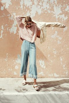 Cropped & flared, the perfect spring pant.