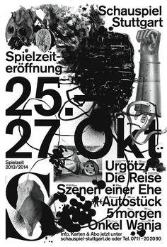 """toomanydesign:  Jakob Kirch - Niemcy, """"Otwarcie sezonu 2013/14 w Teatrze Miejskim w Stuttgarcie"""" (Schauspiel Stuttgart)"""