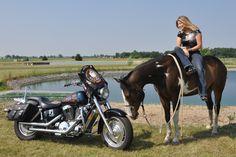 Me & Makoan lookin' at Liberty (my steel horse).
