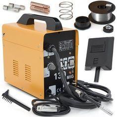 ARKSEN MIG-130 Gas-Less Flux Core Wire Welder Welding Machine Automatic Feed, Yellow