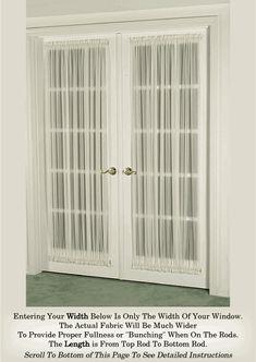 French Door Curtain Sheers (door curtains)