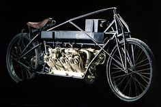 Glenn Hammond Curtiss built a lightweight, functional v8 engine in 1906 and then built a motorcycle chassis for it. in 1907, he broke the land speed record on this, clocking in at just over 136mph. It would take a car 11 years to overcome this record, and 23 years before another two-wheel vehicle could do the same.