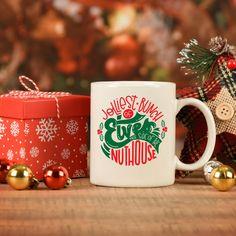 Funny Christmas Mug, Jolliest bunch of Elves, Santa Christmas coffee mug, holiday decor gifts, Christmas gift for moms, birthday gifts Christmas Coffee, Christmas Gifts For Mom, Santa Christmas, Christmas Humor, Mugs For Men, Funny Coffee Mugs, Birthday Gifts, Holiday Decor, Birthday Presents