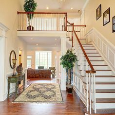 "16 Likes, 1 Comments - Heather Neumann Salaga (@chipneumannteam) on Instagram: ""An absolutely beautiful two-story foyer with a stunning staircase, rich oak flooring and gorgeous…"""