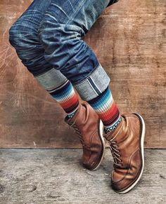 Important: we are not affiliated with Red Wing Shoe Co. Red Wing Boots, Botas Red Wing, Rugged Style, Mens Boots Fashion, Denim Fashion, Indie Fashion, Denim Boots, Leather Boots, Sock Shoes