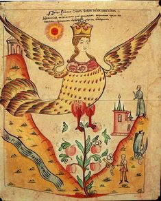 Birds of Paradise Medieval Manuscript, Medieval Art, Illuminated Manuscript, Russian Folk, Russian Art, Russian Style, Bird People, Art Drawings For Kids, Arts And Crafts Movement