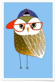 Owl Cap als Premium Poster von Ashley Percival | JUNIQE