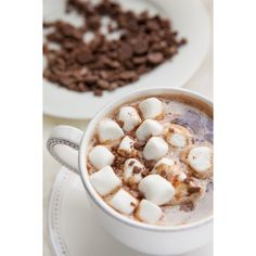 spiked hot chocolate ❤ liked on Polyvore featuring food