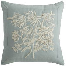 Spring Meadow Embellished Floral Mini Pillow