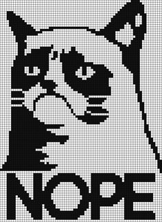 Free Cross Stitch Pattern - Grumpy Cat says NOPE.