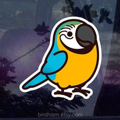 Chubby Blue & Gold Macaw Sticker