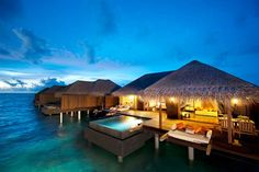 over the water bungalows in tahiti | Sunset_Ocean_Suite - Overwater Bungalows