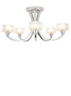 Bathroom Lights Debenhams chrome anushka sputnik flush ceiling light - bhs | entrance
