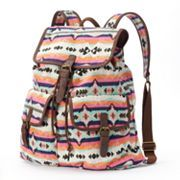 Mudd® Oversized Colorful Aztec Backpack