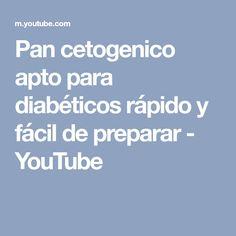 Pan cetogenico apto para diabéticos rápido y fácil de preparar - YouTube