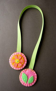 From the Tropics DOUBLE-SIDED felt bookmark by soleilgirl, via Flickr