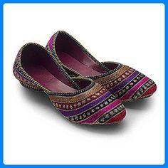 2dots Damen Jaipuri Resham Zari Stickerei Ferse Ballerina Sandale, Mehrfarbig - Multi-color - Größe: 42 - Sandalen für frauen (*Partner-Link)