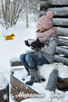 Winter, snow and hot cocoa I Love Winter, Winter Day, Winter Is Coming, Winter White, Winter Season, Winter Christmas, Snow Scenes, Winter Scenes, Winter Cabin