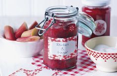 This rhubarb and ginger jam makes the perfect homemade Christmas gift. | Tesco