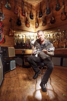 Gods among us - James Hetfield ...this is at the San Francisco Guitar Center. LO