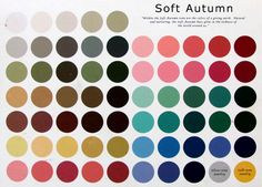 Soft Autumn colour palette