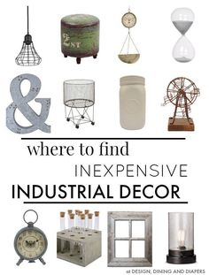 Ultimate Shopping guide for Inexpensive Industrial Decor