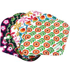 Wegreeco Bamboo Reusable Sanitary Pads - Cloth Sanitary Pads - Pack of 5 (Small,Flower) $15.99 Always Pads, Reusable Menstrual Pads, Wet Bag, Small Flowers, Medium Bags, Clothing Patterns, Bamboo, Stylish, Mini