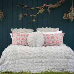 ruched bedspread
