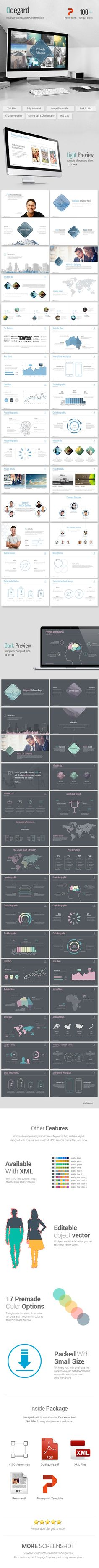 Odegard - Simple Powerpoint Presentation Template - Abstract PowerPoint Templates
