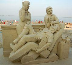 dentist sand sculpture