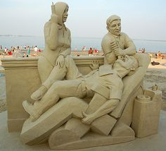 Sand Sculpture -A Visit to The Dentist