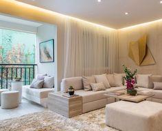 """7,075 Likes, 34 Comments - Arq•Home•Décor•Casa•Int•blog (@_homeidea) on Instagram: """"Living e terraço integrados by Chris Silveira!  Amei! @pontodecor  Via @maisdecor_…"""""""