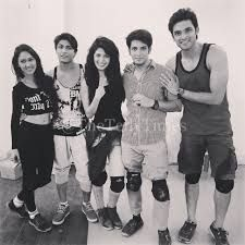 black nd white...but still we r cool.... don't disturb we r the fab 5 kaisi yeh yaariyan mtv :P <3